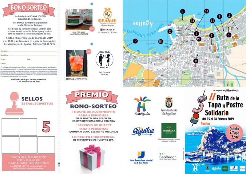 15th to 28th February Águilas charity tapas route