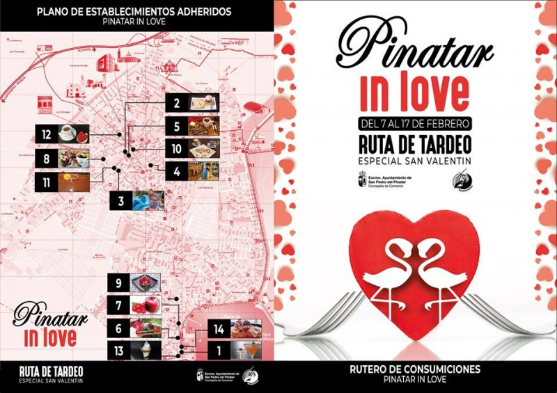 7th to 17th February Pinatar in Love themed desserts and drinks route San Pedro del Pinatar