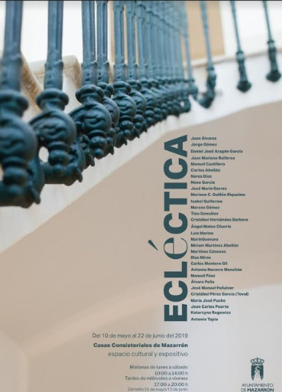 <span style='color:#780948'>ARCHIVED</span> - 10th May to 22nd June, Ecléctica art exhibition in Mazarrón